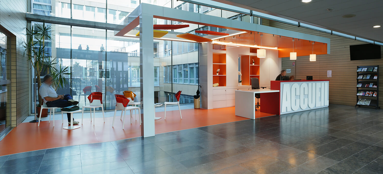 Bâtiment administratif : Banque d'accueil